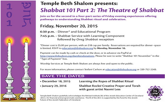 TBS Shabbat 101 Flyer 11 20 15F2