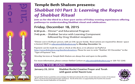 Shabbat 101, Part 3