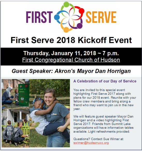 First Serve 2018 Kickoff