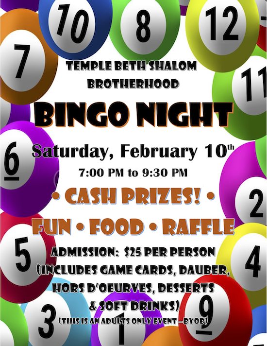 Brotherhood Bingo Night