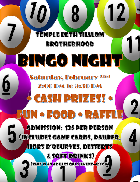 Bingo Night 2/23/2019